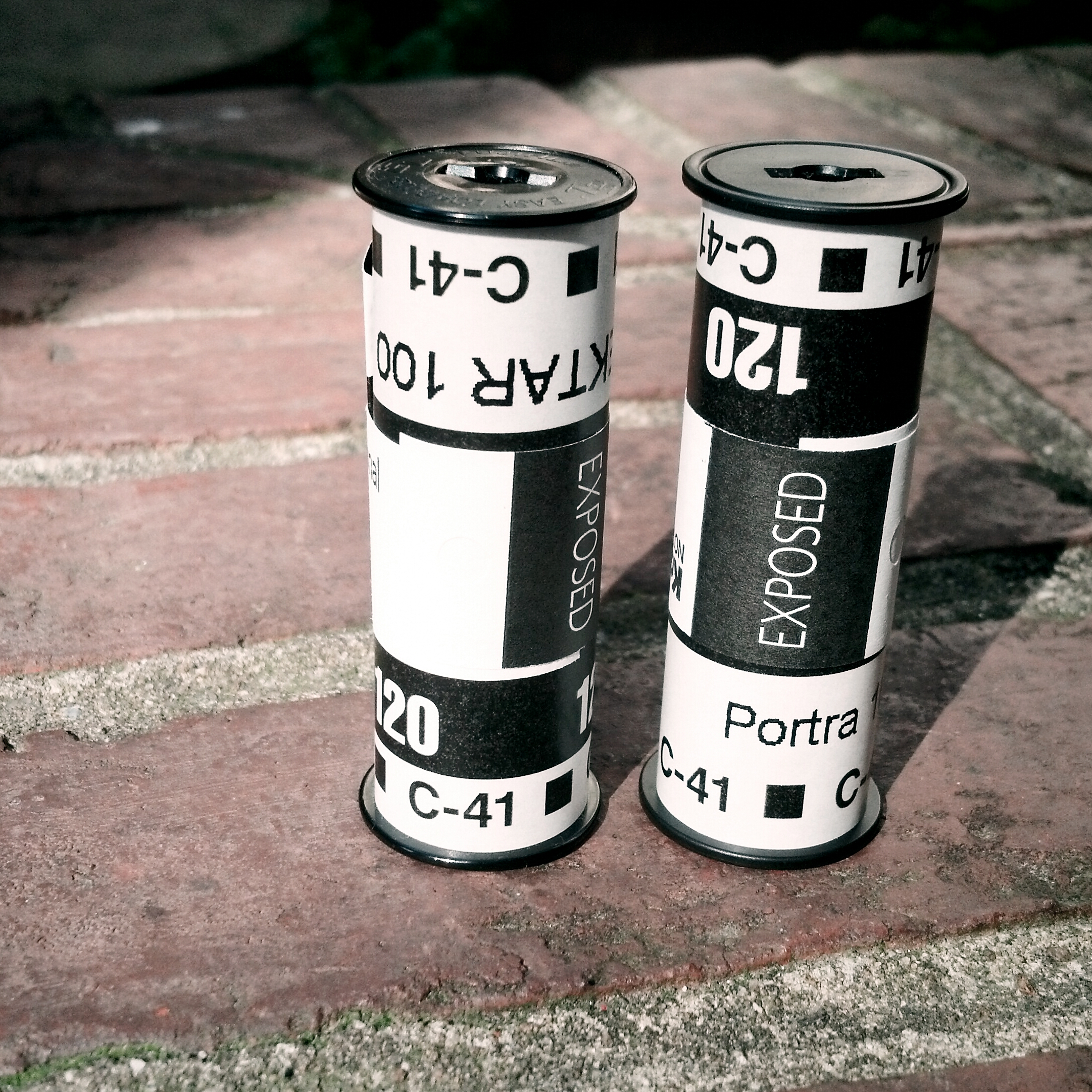 Two rolls of 120 film I shot yesterday at a photography meetup event in Knoxville: Kodak Ektar and Kodak Portra.  Also called  medium format  film, 120 has been around for over a century and is still popular among photography enthusiasts. 120 film frames can be several times larger than 35mm negatives, and due to the larger size it yields detailed and beautiful scans.