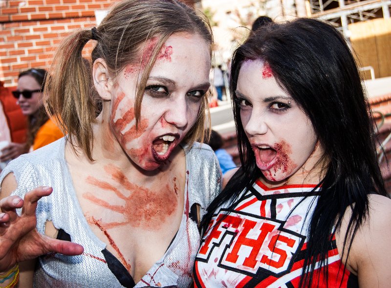 Participants in the Knoxville Zombie Walk (2010).