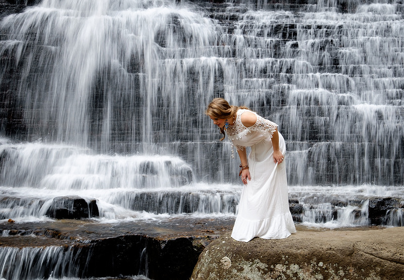 From a recent model shoot using the XF 18-135mm zoom. Shot on a tripod at 1/10 seconds in order to introduce some blur into the waterfall. OIS turned off.