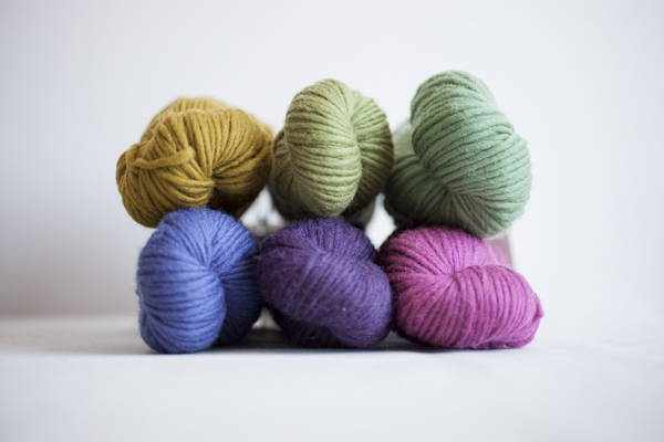 Colors (clockwise from top left): Honey, Wasabi, Lichen, Sorbet, Frank's Plum, Lupine