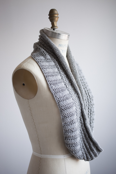 Eternity Scarf in Moo Cotton, color - Heathered Grey