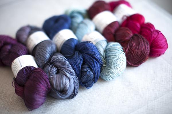 Colors (from left to right): Velvet, Dove, Midnight, Frost, Brick, Royal Flush