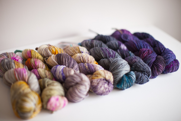 Colors (from left to right, one in each base): Sleeping Beauty, Songbird, Crashing Wave, Cosmic