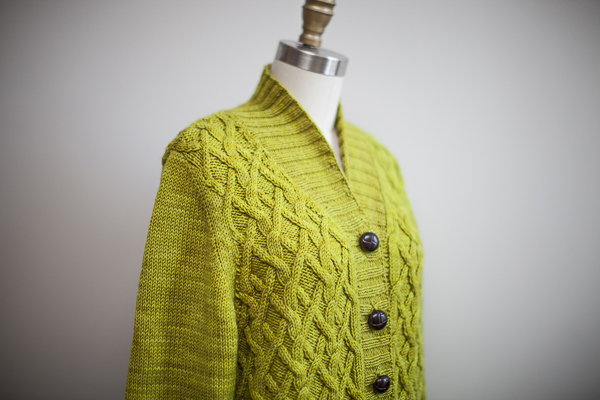 BARTLETT, knit in The Plucky Knitter Snug Worsted, color - Prickly Pear