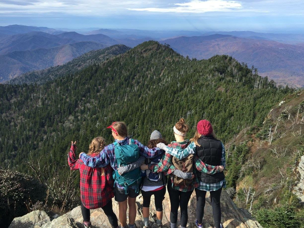 Some girls took a Fellows road trip to hike the Smoky Mountains.