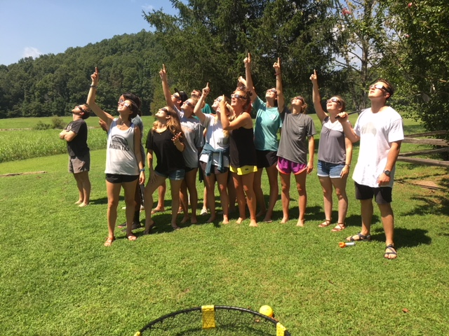 Opening Retreat - we even got to experience the eclipse together!