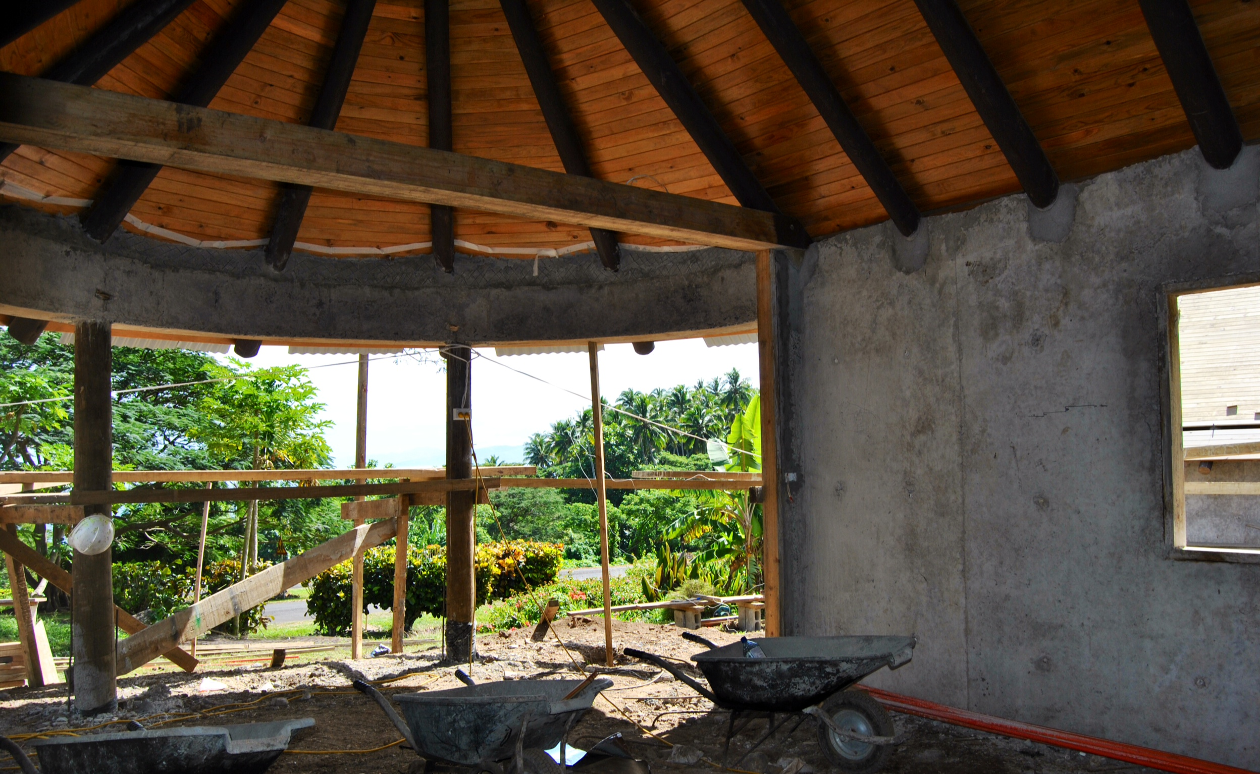 Tongue in groove completed at Bure 1. How is that view out the front?