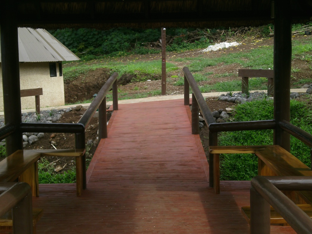 Another view of the built-in benches on the Olo.