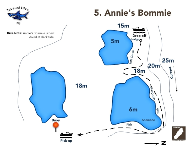 Dive Map for Annie's Bommie    | Return to Dive Sites
