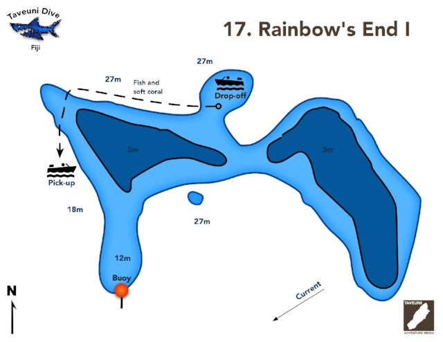 Rainbow's End I Dive Map      Return to Dive Sites