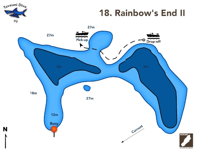 Rainbow's End II Dive Map      Return to Dive Sites