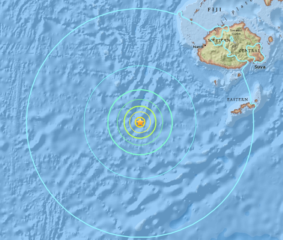 The epicenter of Wednesday's quake was 221Km southwest of Nadi.