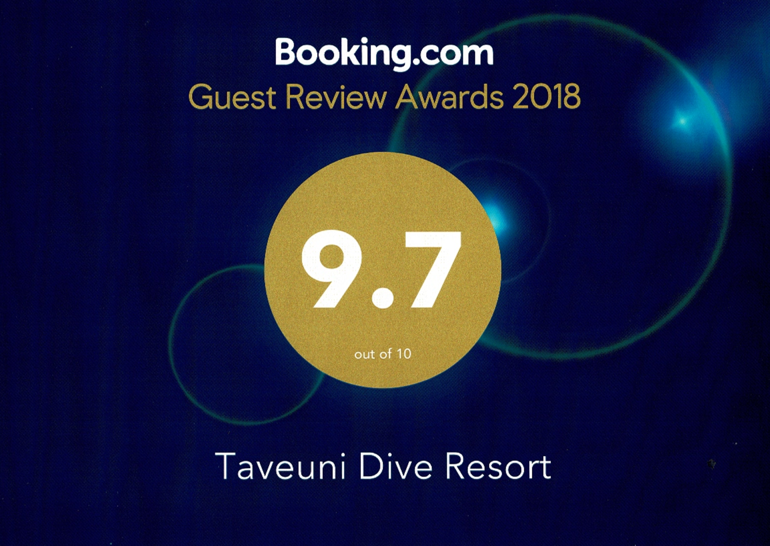 We just received our 2018 Guest Review Reward from Booking.com, and we're really happy!