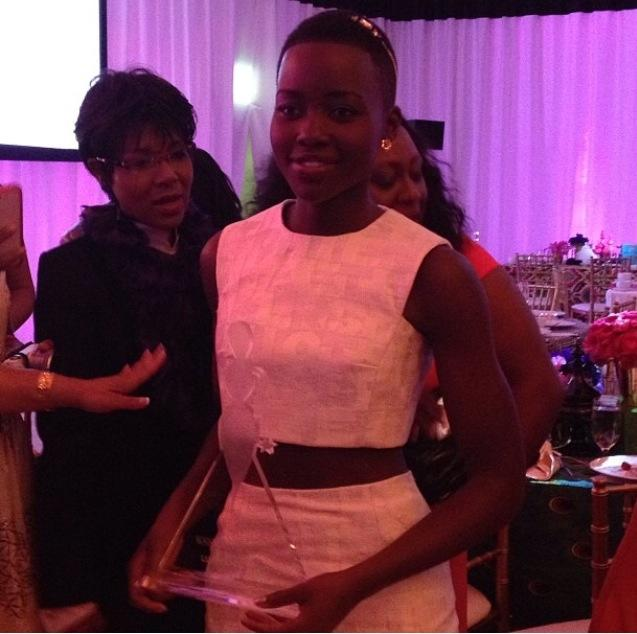 Lupita Nyong'o with her award!