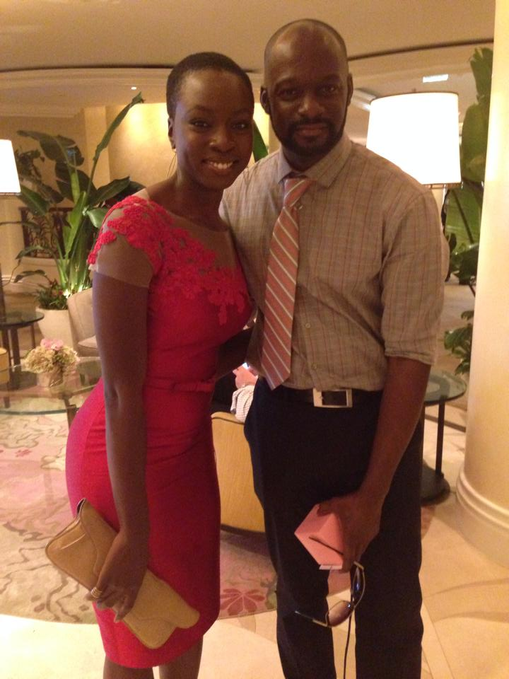 Danai Gurira with Michael Rowe of Essence Magazine!