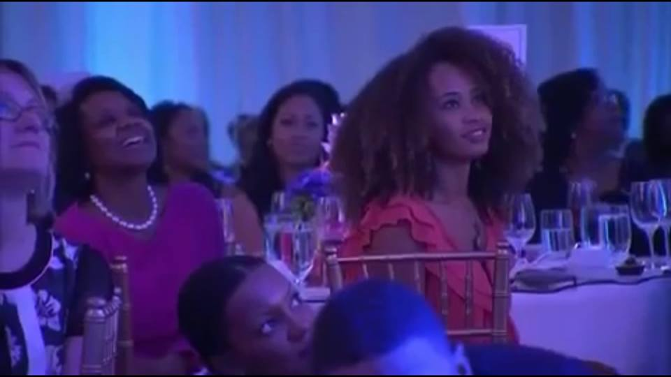 Watching and listening to Lupita Nyong'o accept her honor at the 7th Annual Black Women in Hollywood honoree luncheon put on by Essence Magazine.