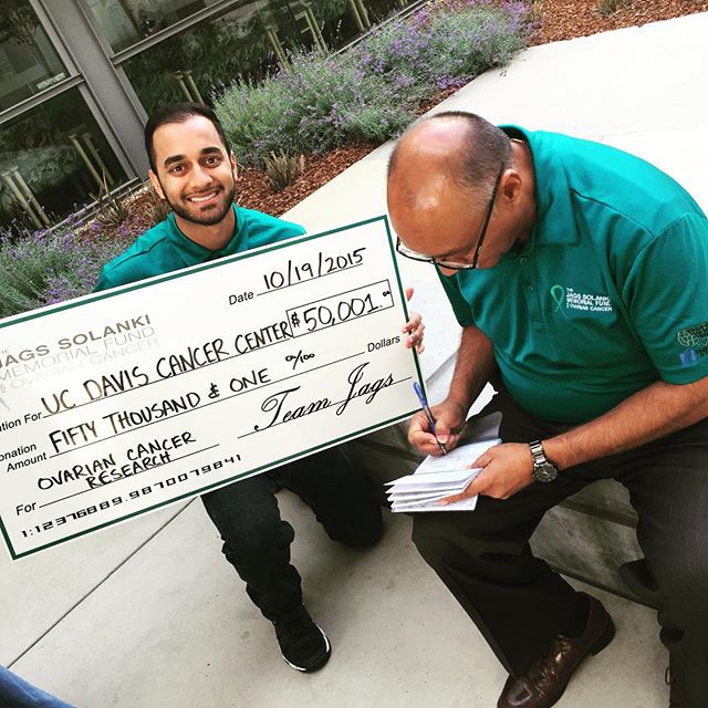 #teamjags donated proceeds from the 5th Annual #Golf & #Gala for #OvarianCancer to @ucdavishealth @ucdavis in the amount of $50,001.00. Thank you to all our guests, sponsors and supporters for making this a reality! @viraajsolanki_djvsol @hedo_solanki @m1sh87 @miransolanki @meera_meera_onthewall @amibear29 @sunitabuksh @shalina.patel @wong.jimmy @zaheemster @karina_nathoo @katrinar29 @pranavranchhod @devan_ranchhod @shaypatel102 @nimpatel1 @nikitanathoo95 @preee87 @mrdarylblack @asjivanji @mdcsfphotography