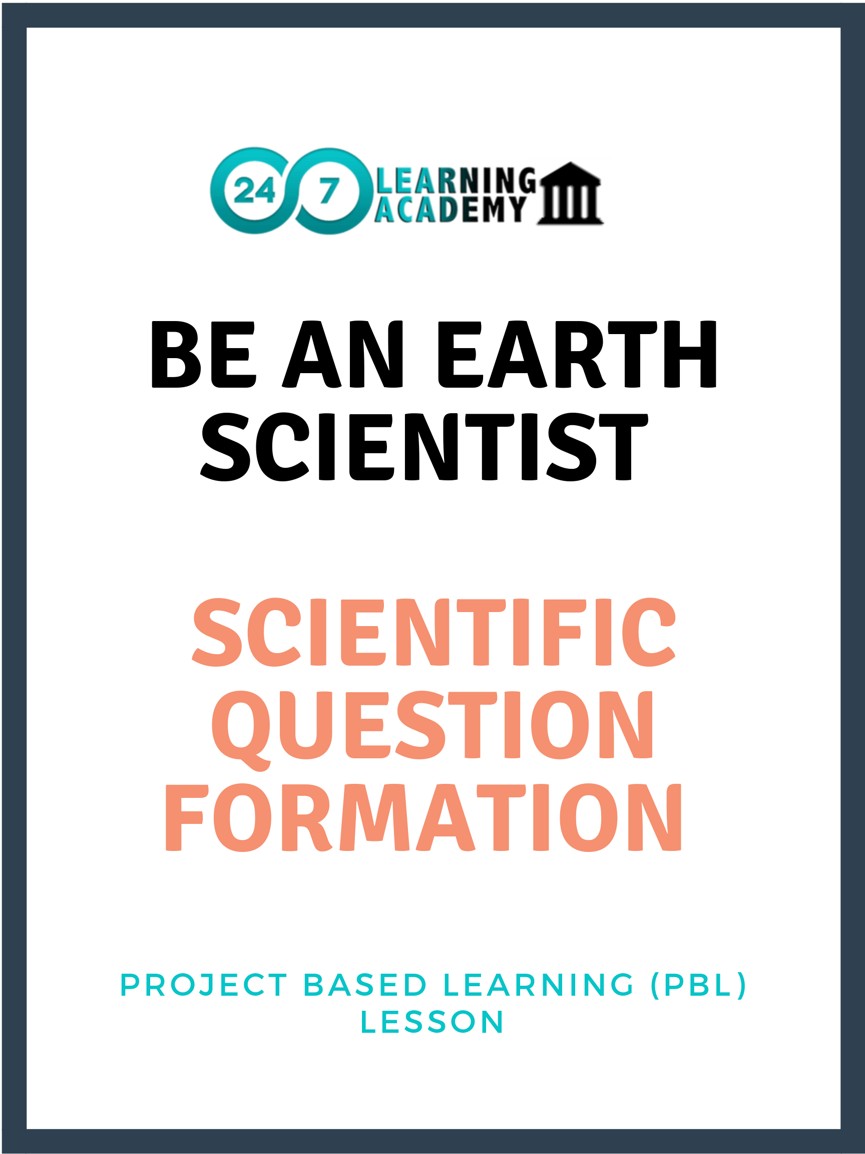Be an Earth Scientist - Lesson