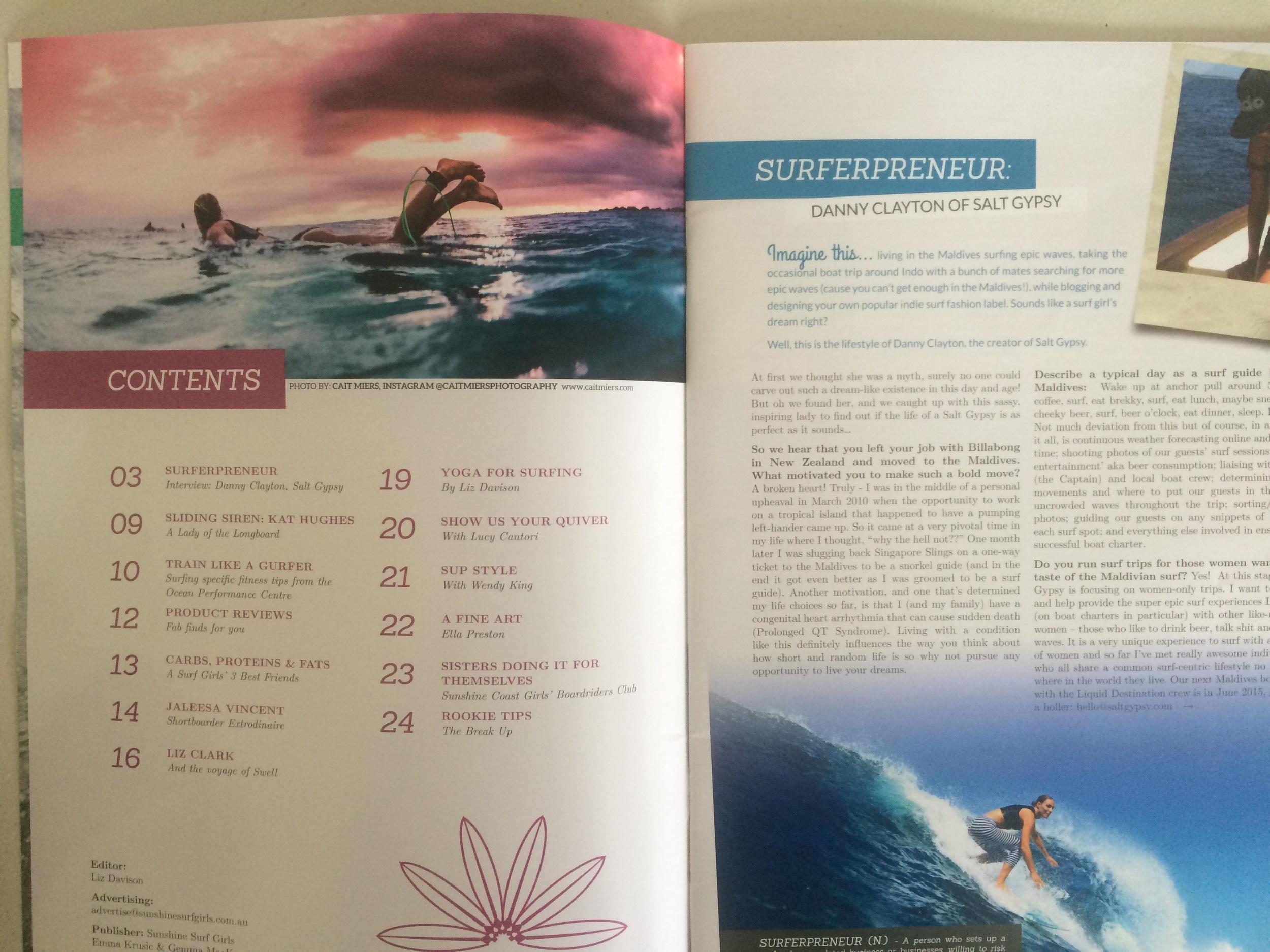 Sunshine Surf Girls Magazine, Issue #1, Summer 14/15