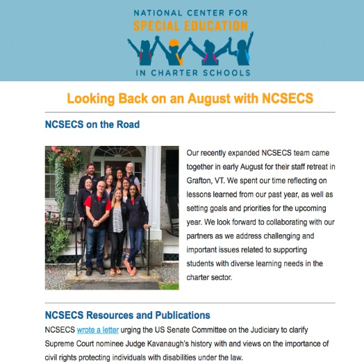 NCSECS' Newsletter — National Center for Special Education