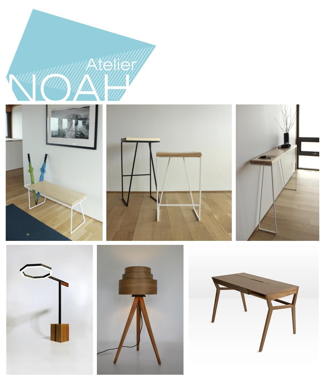 La gamme ZOÉ et d'autres projets de mobilier de l'Atelier NOAH