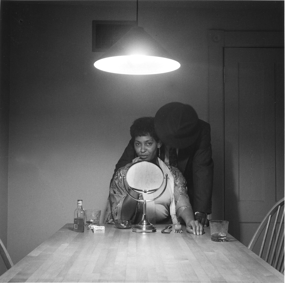 "Carrie Mae Weems (Untitled, Man and Mirror, Gelatin Silver Print 28.5"" x 28.5"""
