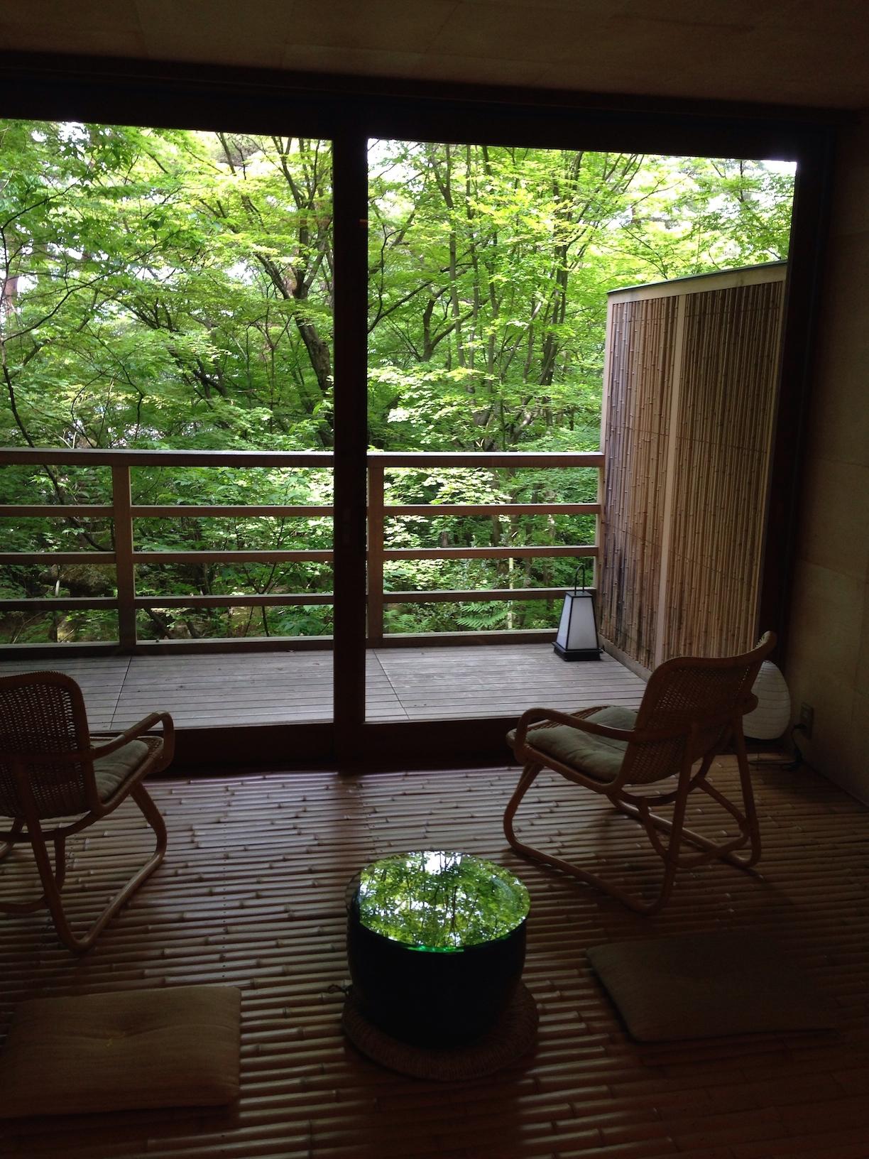 The view from a room at Beniya Mukayu
