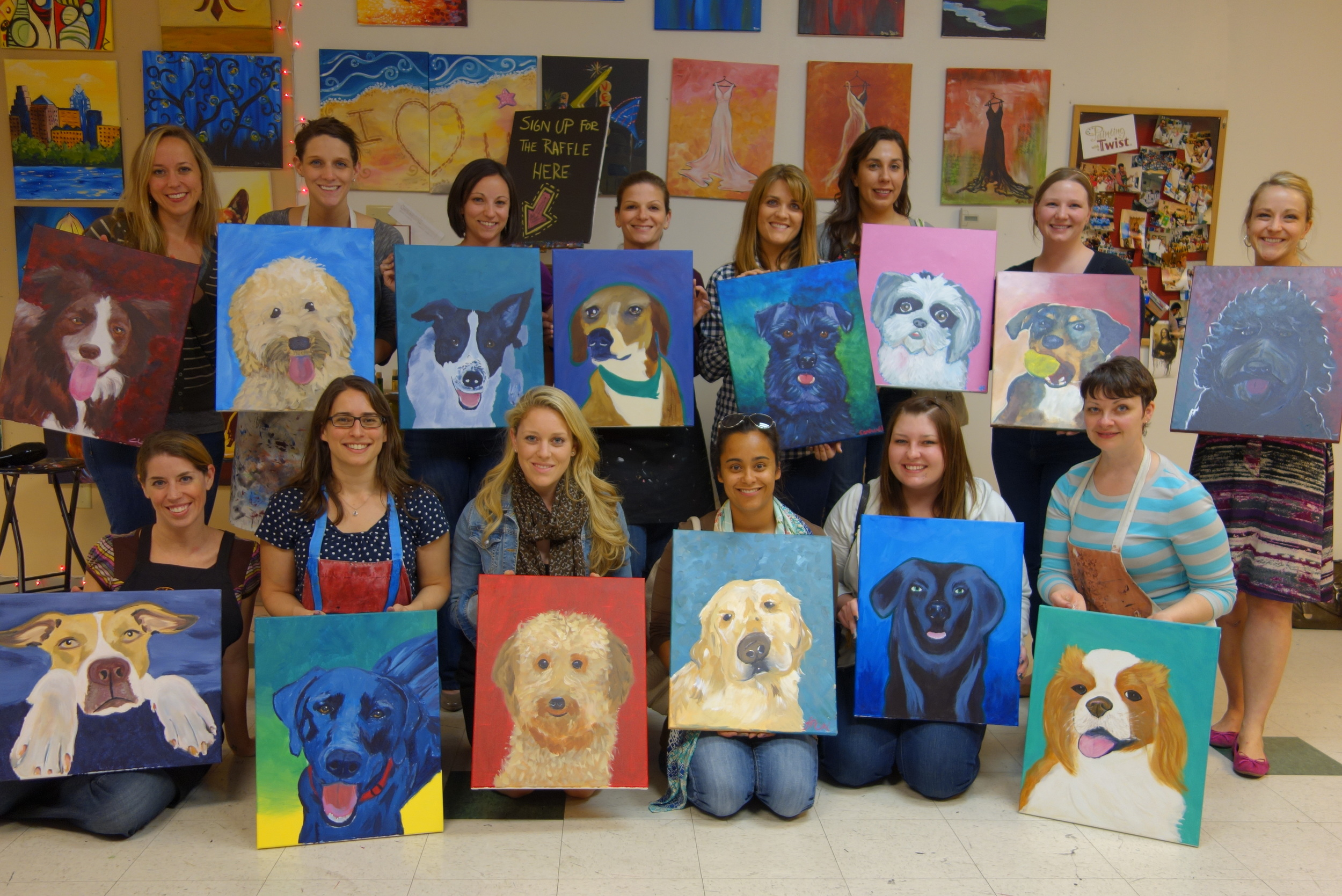 Painting With A Twist Paint Your Own Pet Greater Charlotte Spca