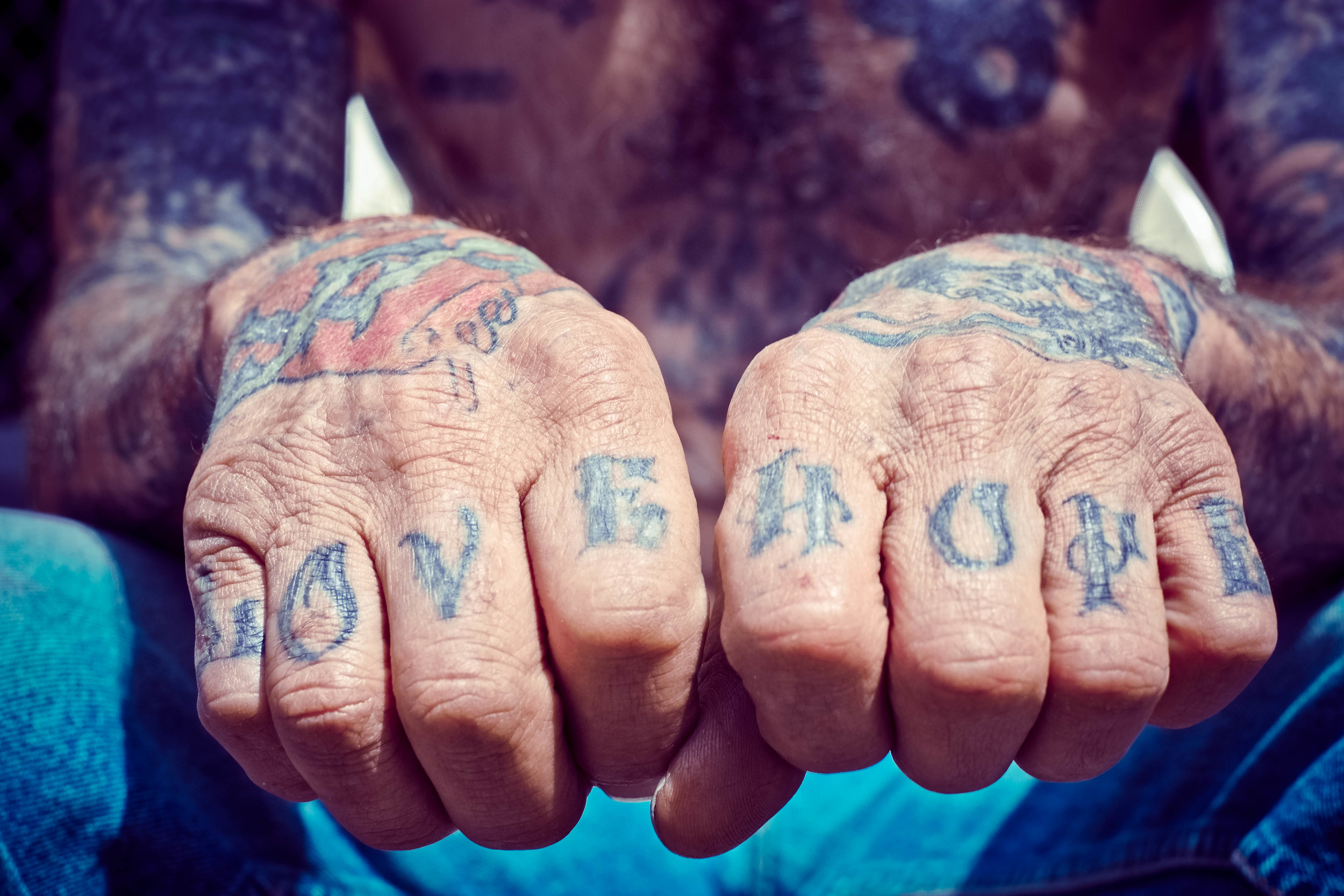 Prison Tattoos  (The 4th Wall, stories of tattoos & body modification, by Fareed Kaviani: www.the4thwall.net)