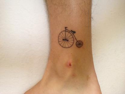 Tattooed by himself.