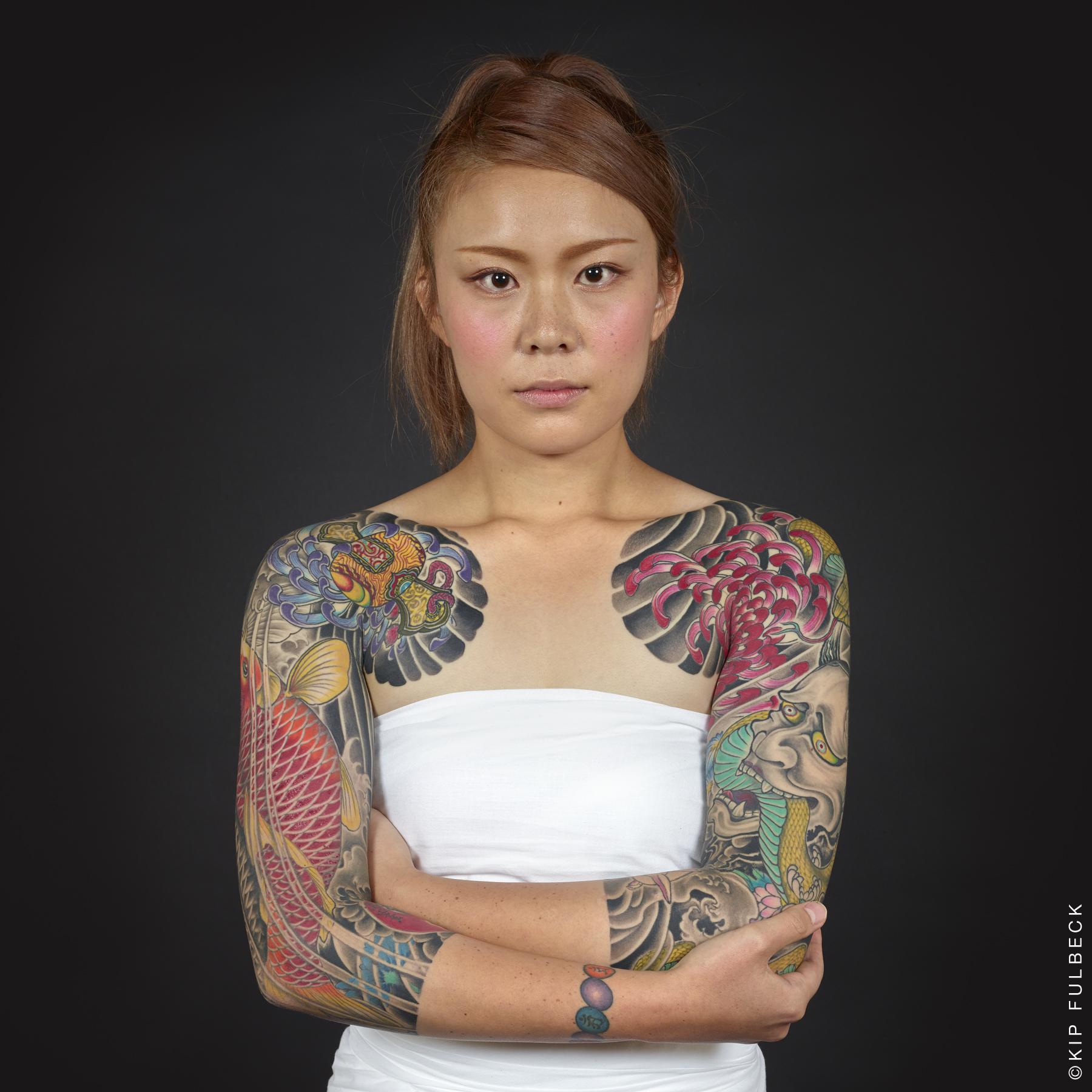 Tattoo by Horikiku. Photo by Kip Fulbeck