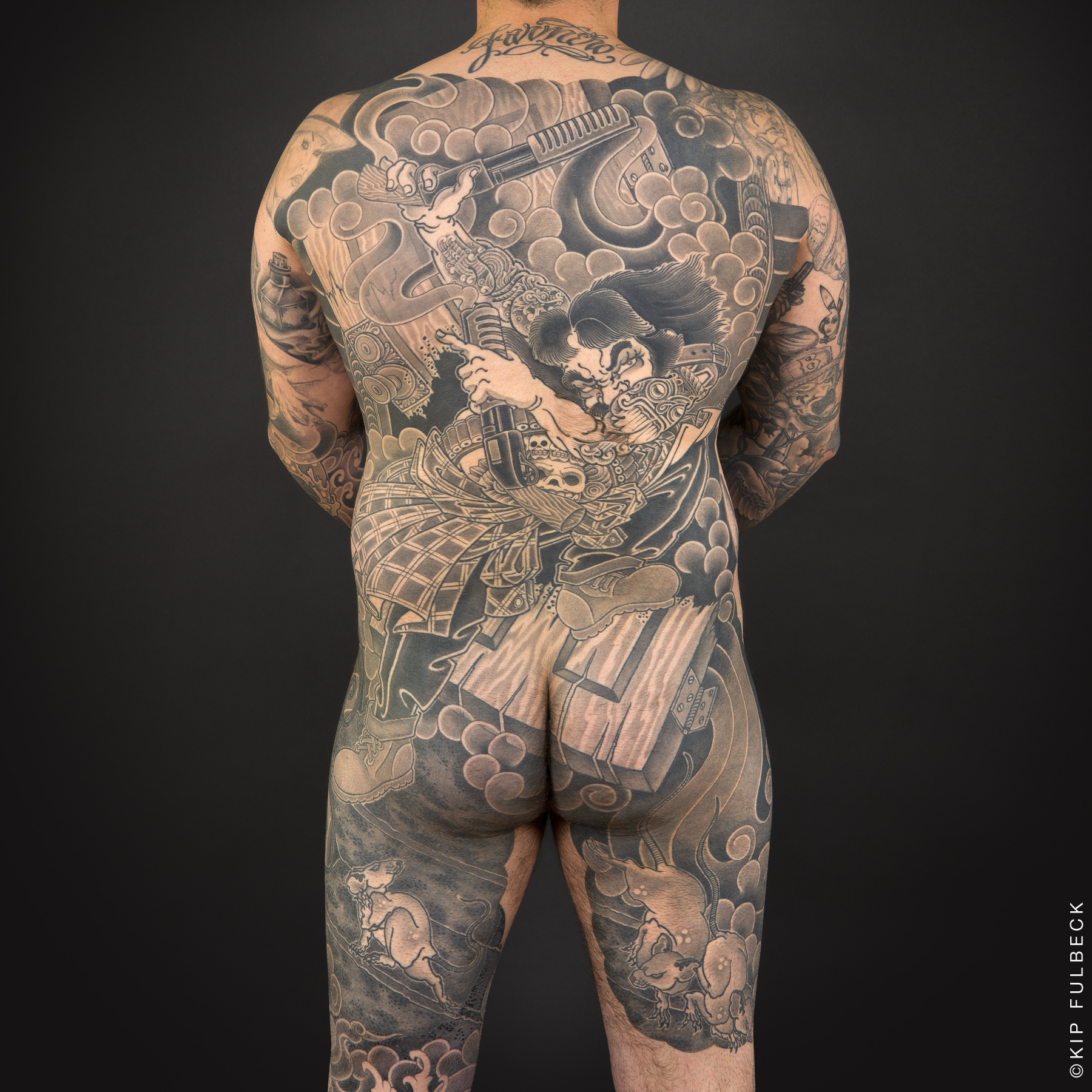 Tattoo by Chris Horishiki Brand. Photo by Kip Fulbeck