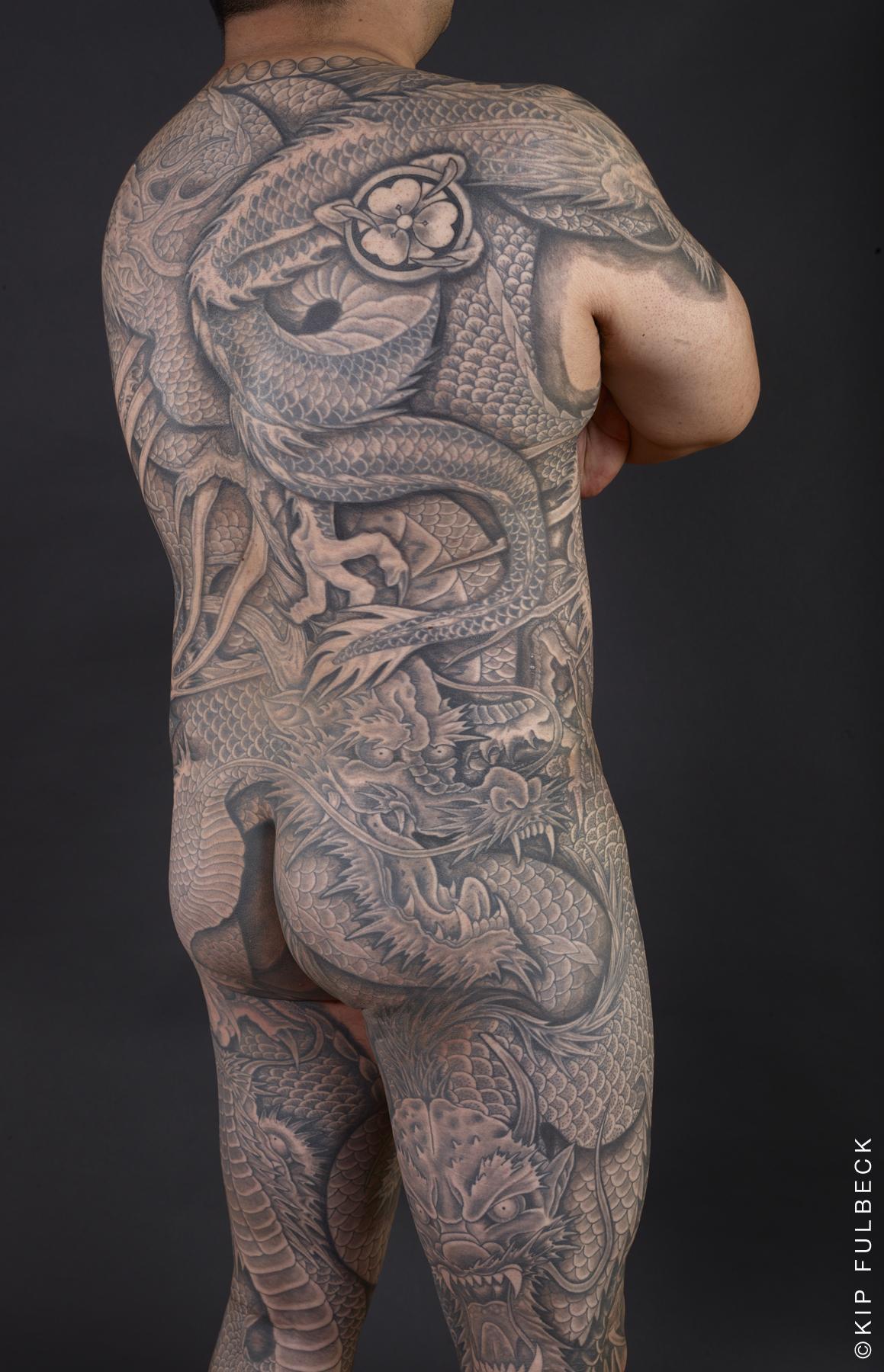 Tattoo by Horitaka. Photo by Kip Fulbeck