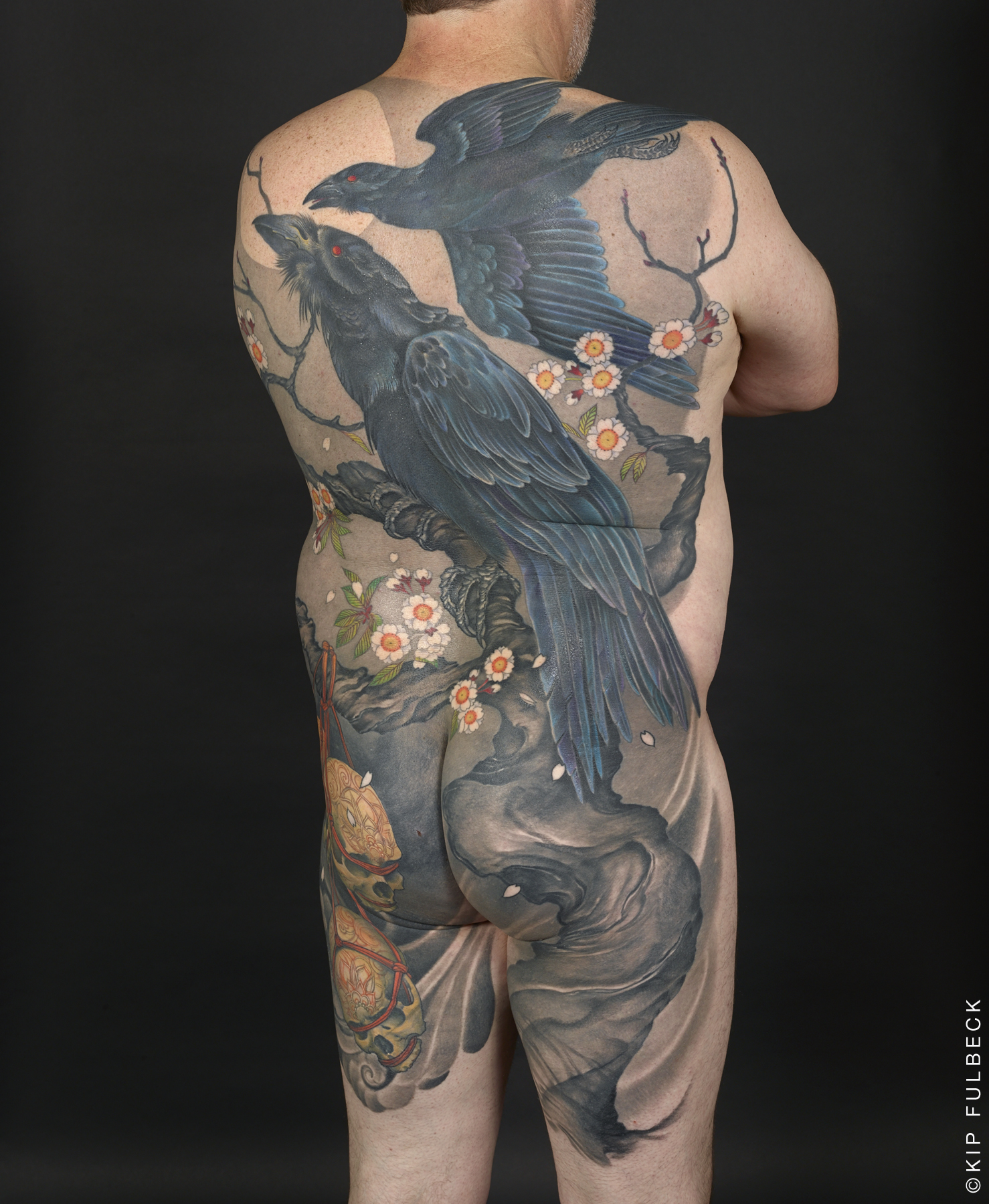 Tattoo by Jeff Gogue. Photo by Kip Fulbeck