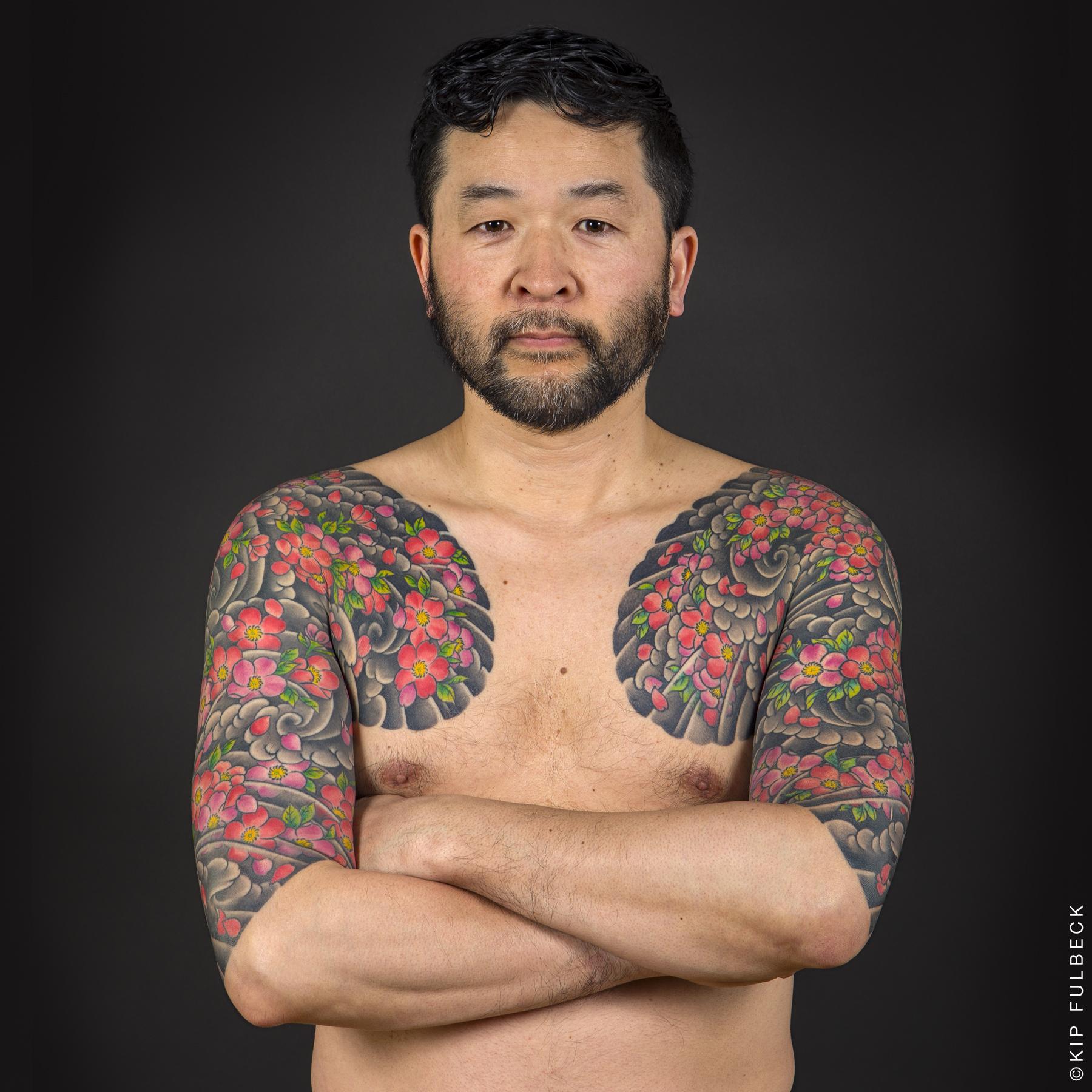 Tattoo by Yokohama Horiken. Photo by Kip Fulbeck