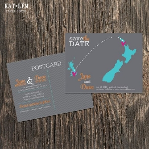 New Zealand Save The Date Postcards..