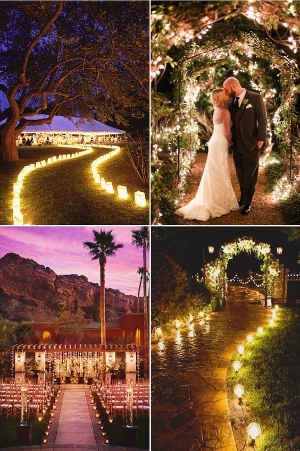 Making a Beautiful Entrance Way for your Ceremony.    25 creative ways to decorate your aisle.