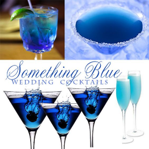 "Something Blue Wedding Cocktails.    Look no further for your ""something blue""."