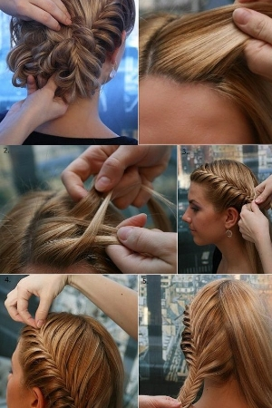 Amazing Braided Hairstyle.    This is a style for long hair and is both elegant and playful.