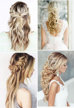 20 Awesome Half Up, Half Down Wedding Hairstyle Ideas  .  Classic, modern, vintage and causal hairstyles to inspire you.