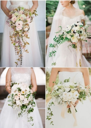 14 Utterly Romantic Cascading Bridal Bouquets.    Beautifully romantic bouquets.