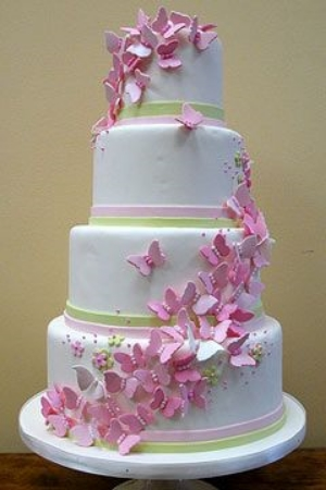 Amazing Butterfly Wedding Cake Design.    Delightful and beautiful designs for your wedding day.