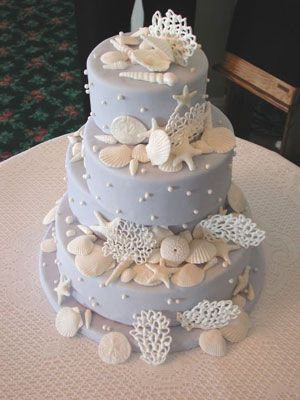 Beach Themed Wedding Cakes.    Make your beach wedding extra special with these designer cakes.