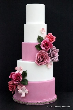 Striking Wedding Cake Design From Cakes By Konstadin.    Elegant and timeless designs to inspire your wedding cake choice.