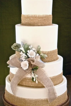 Gorgeous Embellished Wedding Cakes.    The classic round cake is embellished with fresh and fun ideas.