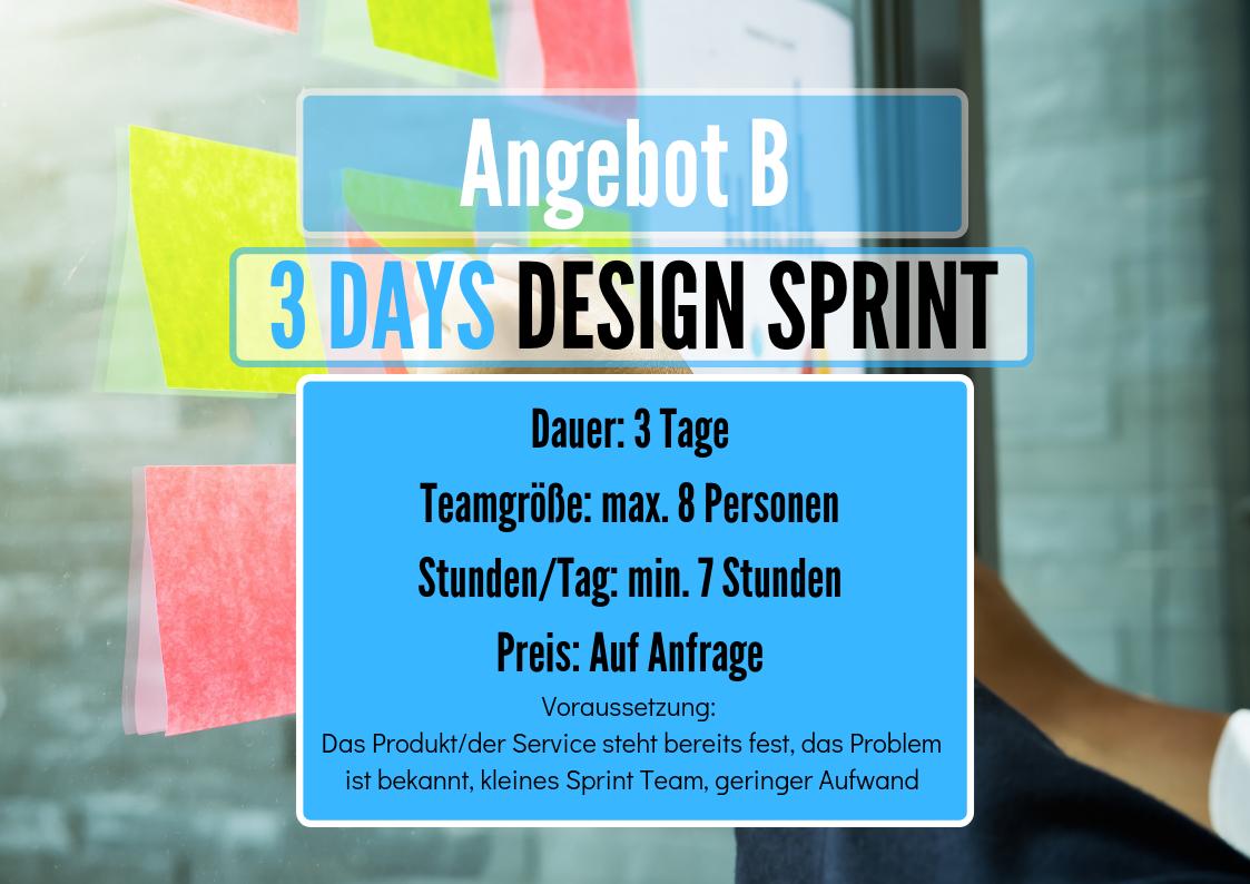 3 Day Angebot Design Sprint Workshop