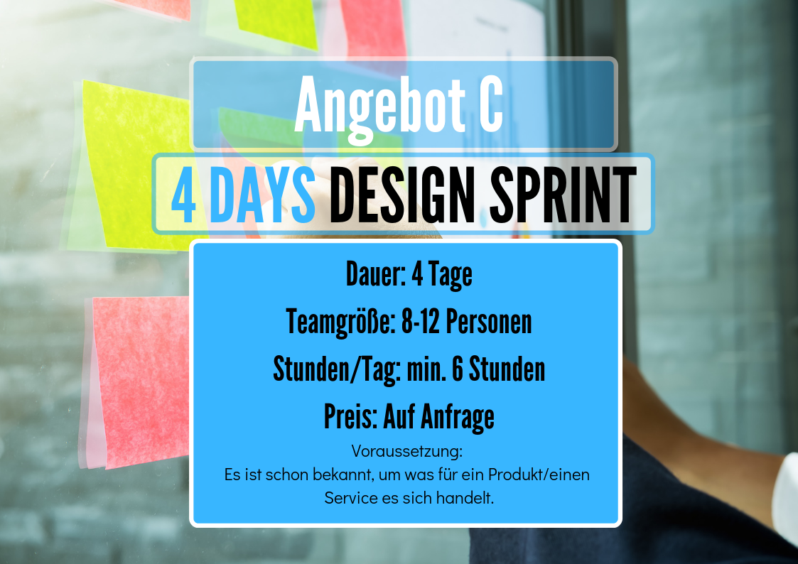 4 Day Design Sprint Workshop Angebot