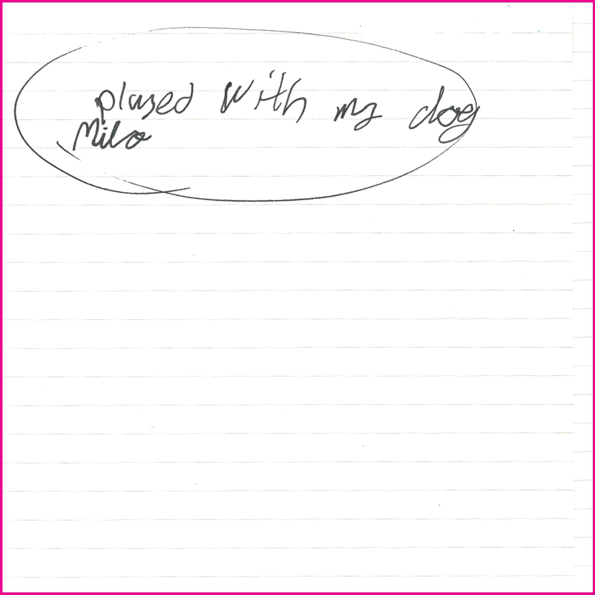 Played with my dog Milo.