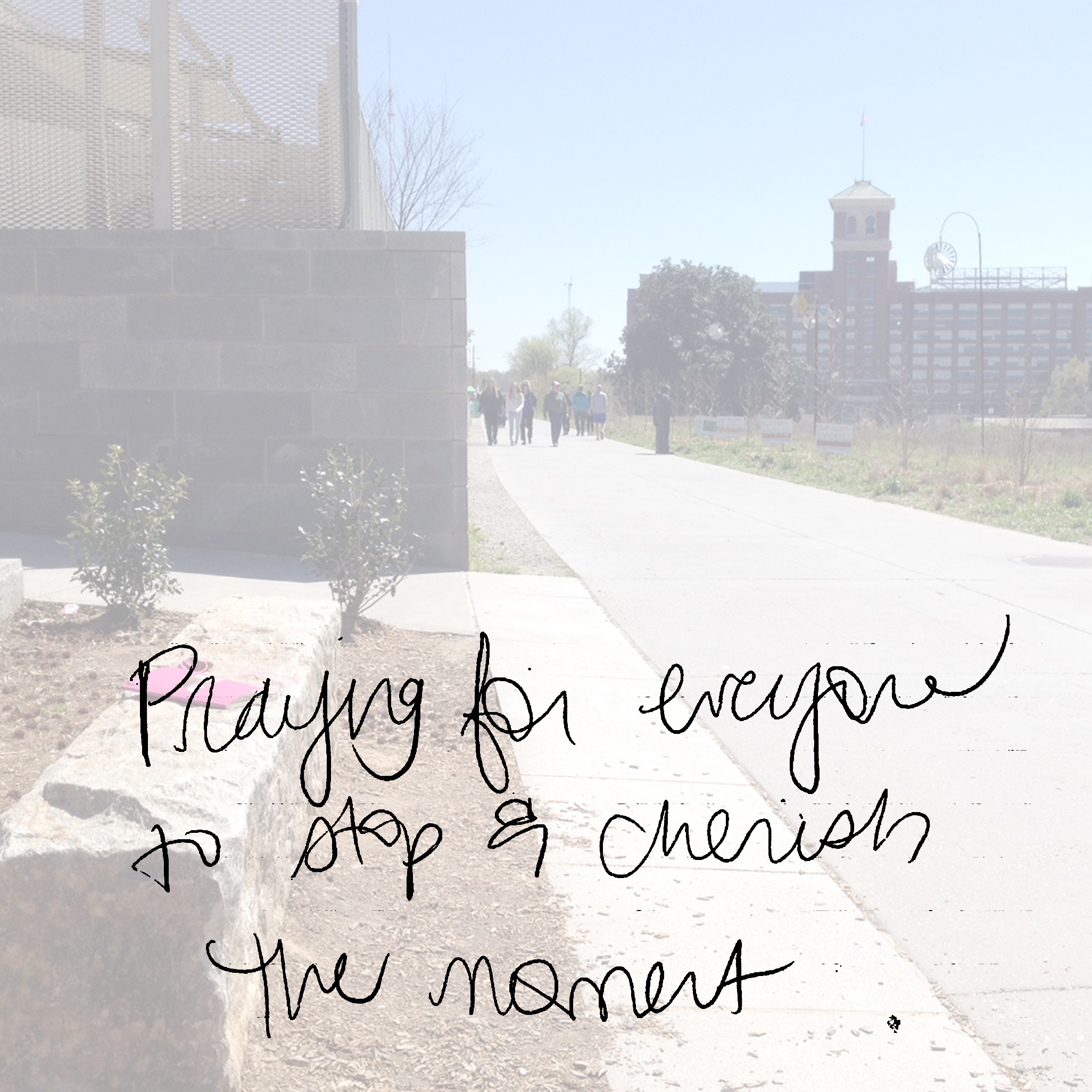 Praying for everyone to stop & cherish the moment.