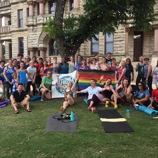 Today is the last day of the #reclaimprideyogachallenge and it is inspired by all my students. Yoga is more than about the postures we practice on our mats, I teach karma yoga because I reclaim yoga for the pride that resides in my students, the community yoga builds and shows my queer and trans students, they deserve to be on their mats like everyone else. I teach for them, I reclaim pride for them and I'd do it over and over again. I chose reverse warrior for my posture today because my students are warriors for showing up on their mats for my queer and trans classes, being vulnerable and continuing to show up for themselves. I've enjoyed being part of this challenge and finding so many fun like minded individuals to fill my feed. 🙏🏻